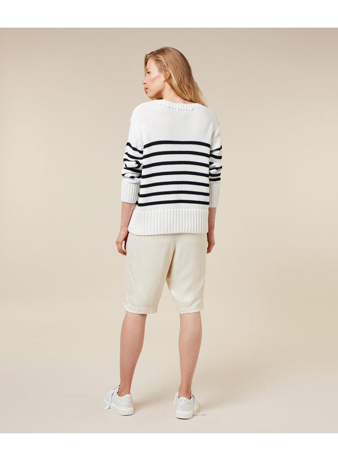 Trui Sweater stripe ecru