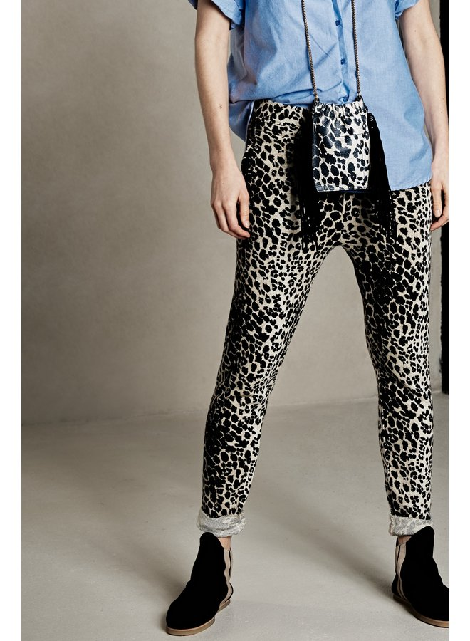 Tas Bag fringe leopard cement