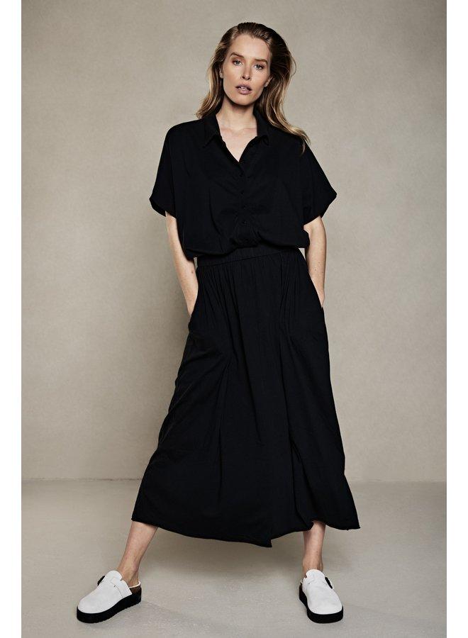 Jurk polo maxi dress almost black