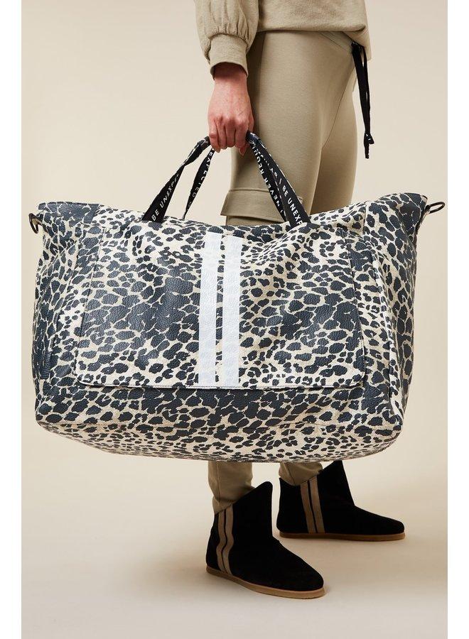 Tas Weekend bag leopard cement