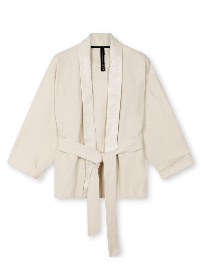Vest Kimono blazer light sand