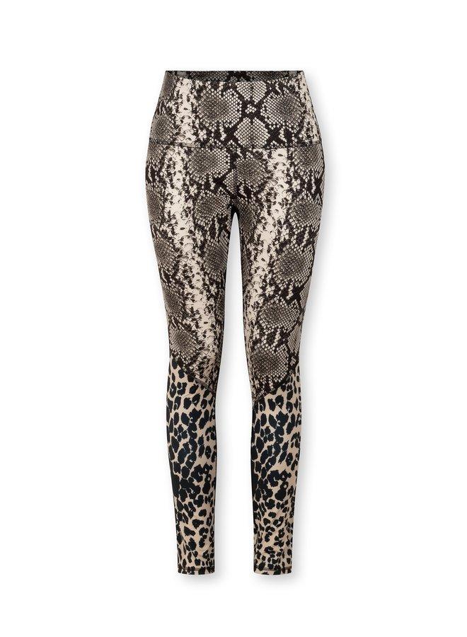 Legging yoga leopard snake cement