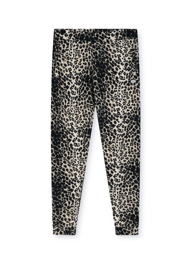 Broek jogger leopard soft white melee