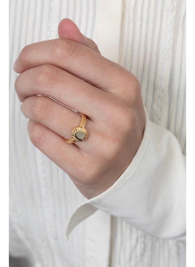 Ring Goyi 18K Gold Plated Smoke