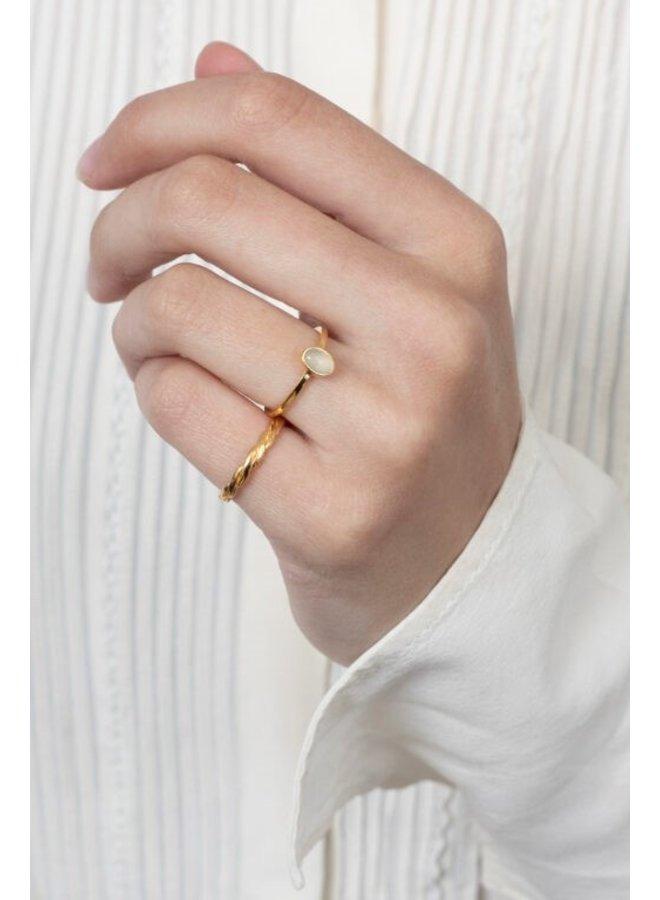 Ring Ozur 18K Gold Plated Smoke