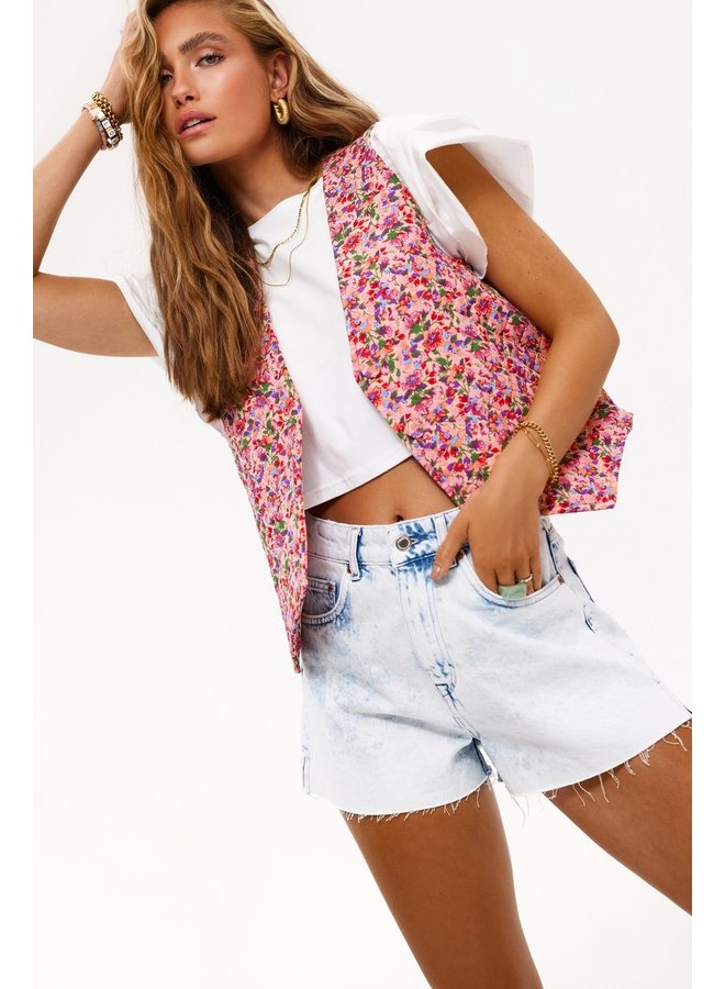 Gilet Can't ignore you pink