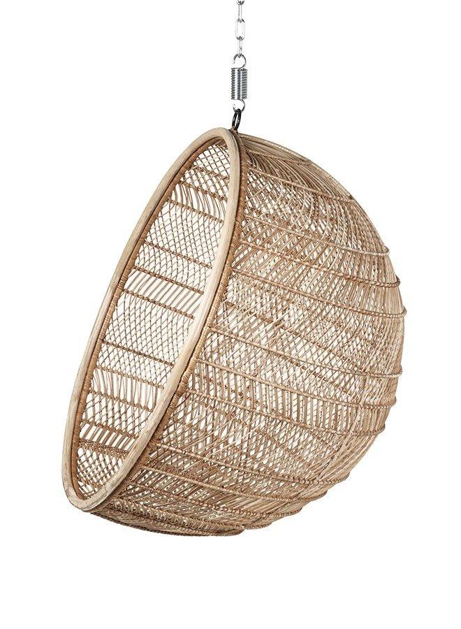 Hangstoel rattan hanging bowl chair natural bohemian