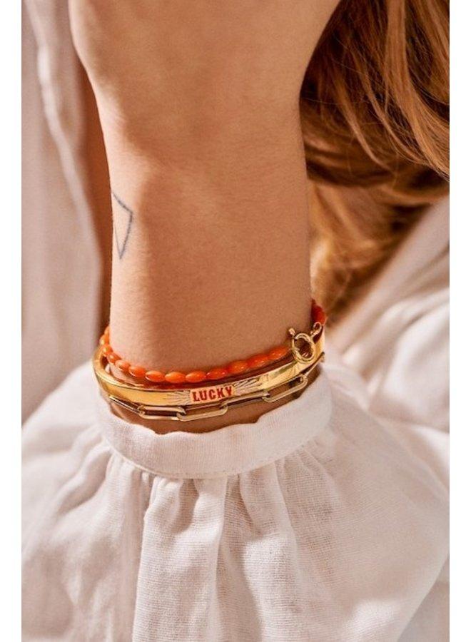 Armband Yee Haw Coral Bracelet rood/goud