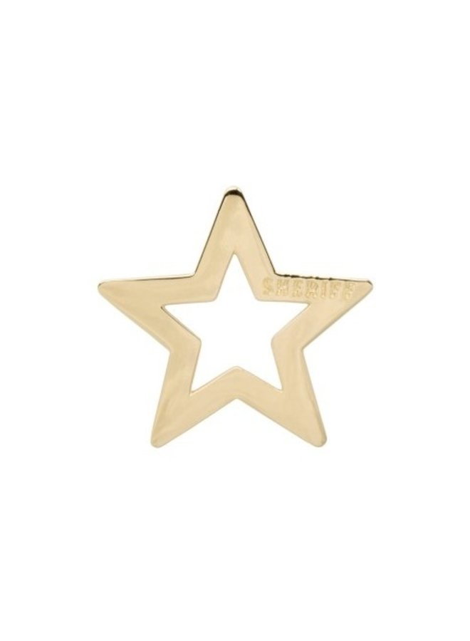 Bedel Sheriff Star Necklace Charm goud