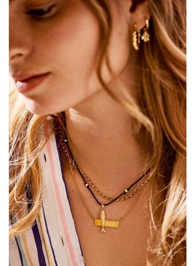 Bedel Fish Necklace Charm goud