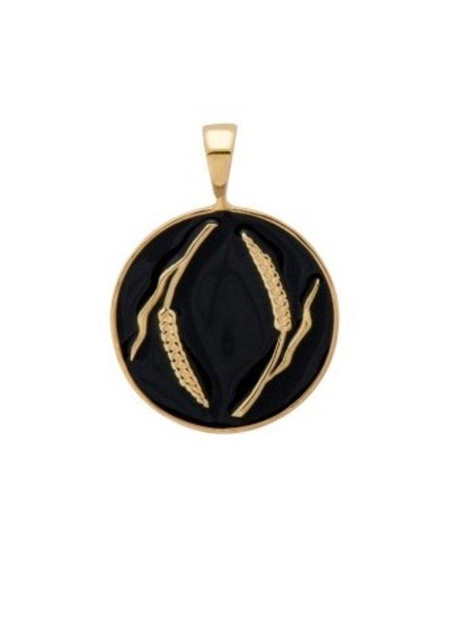 Bedel Prairie Coin Necklace Charm zwart/goud