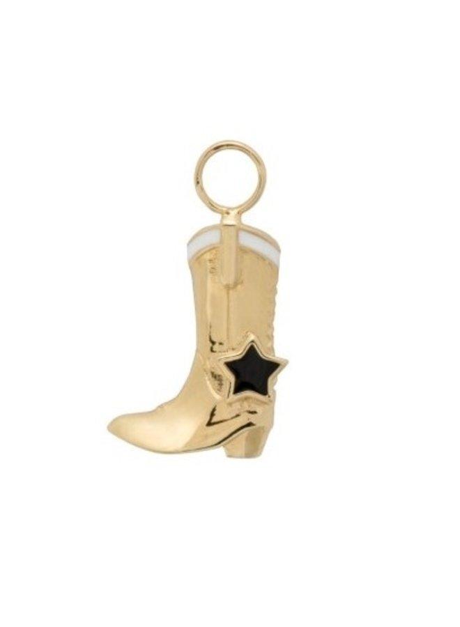 Bedel Cowboy Boot Earring Charm goud