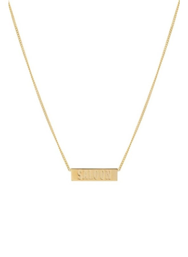 Ketting Saloon Tag Necklace goud