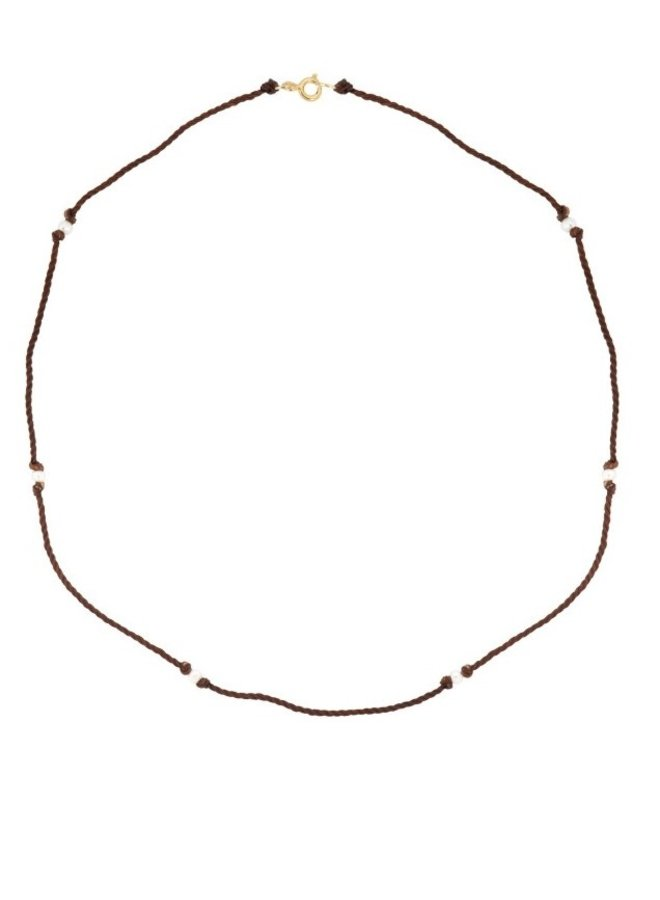 Ketting Lasso Pearl Necklace bruin