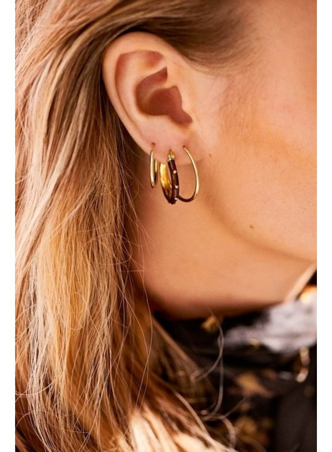Oorbellen Dolly Hoop Earrings bruin