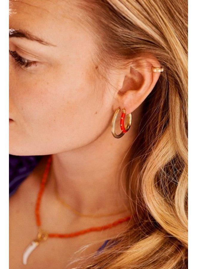 Oorbellen Dolly Hoop Earrings rood