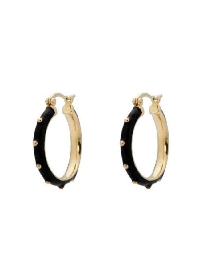 Oorbellen Dolly Hoop Earrings zwart