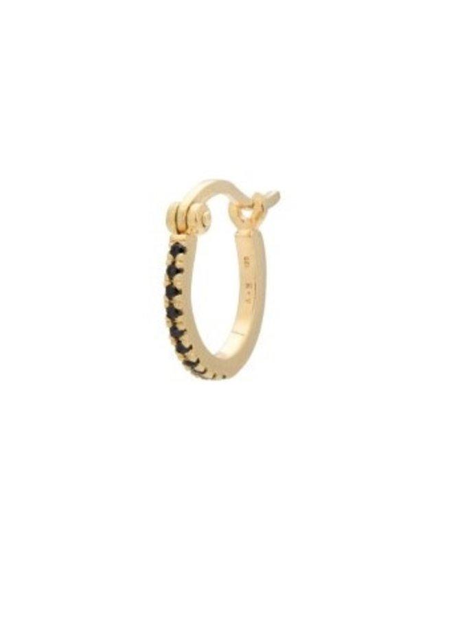 Oorbel single darkness ring earring goldplated goud