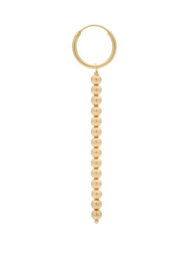 Oorbel single rain ring earring goldplated goud