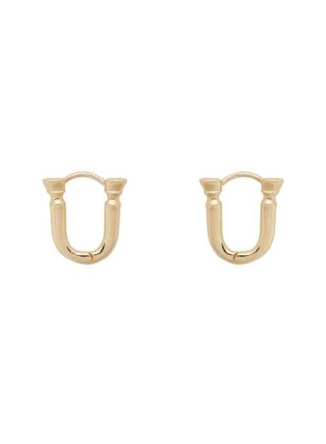 Oorbellen rodeo ring earrings goldplated goud