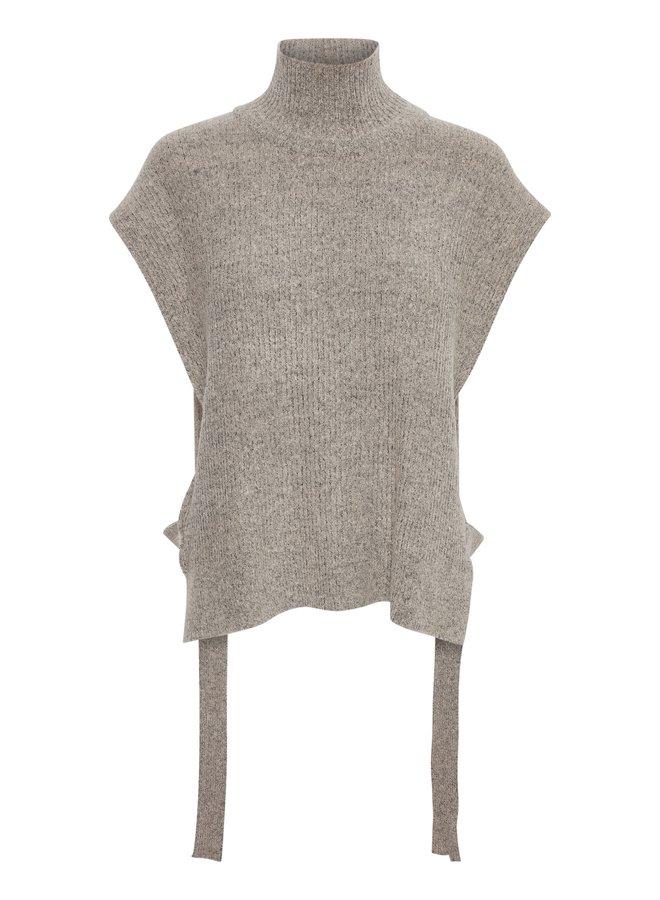 Top CROmint knit slipover oat melange