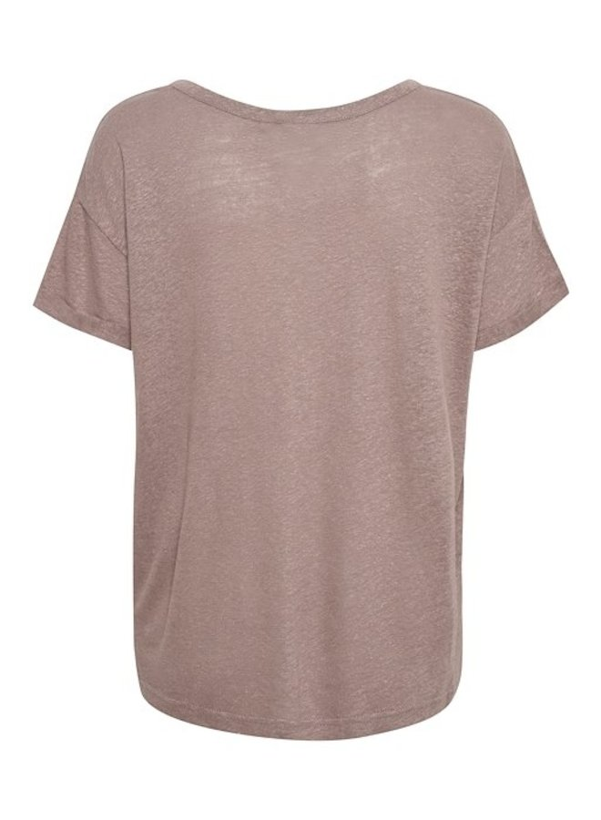 Top CRKary T-shirt faded brown
