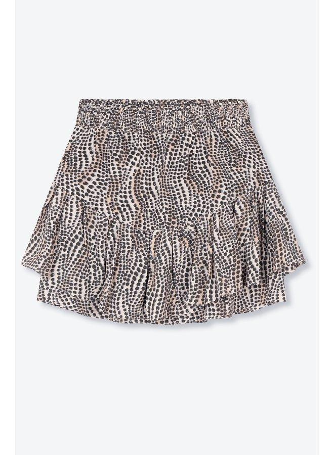Rok Ladies woven dots animal skirt animal