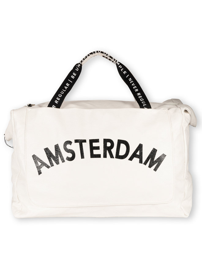 Tas Weekend bag amsterdam white