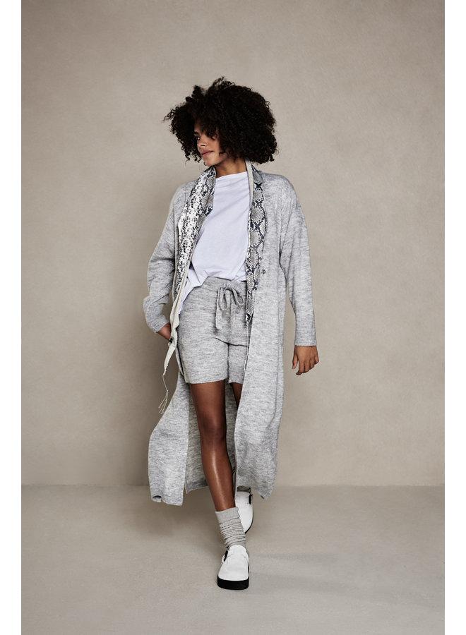 Short Knitted bermuda light grey melee