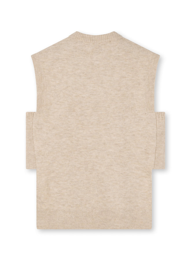 Trui Spencer soft knit cement
