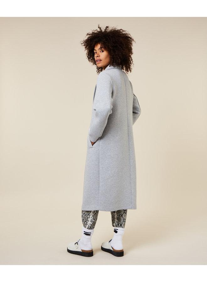 Jas Scuba coat light grey melee