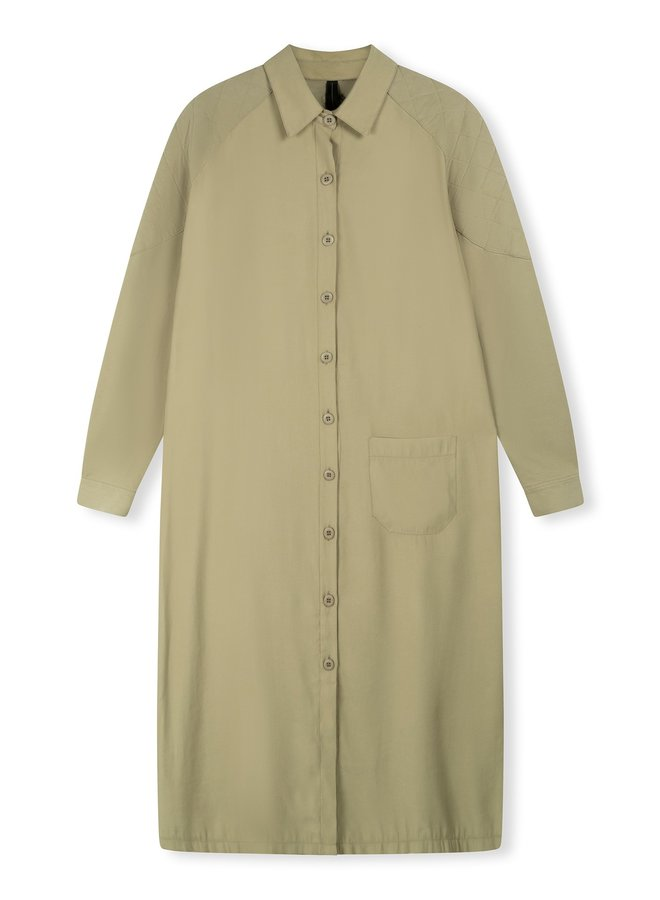 Jurk baseball dress khaki