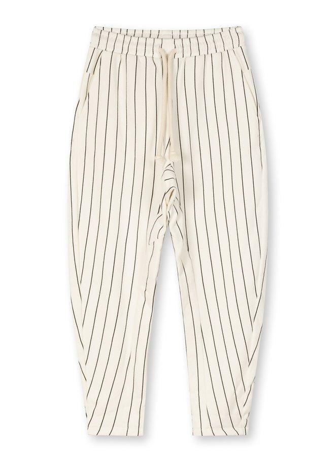 Broek Statement jogger stripe new white