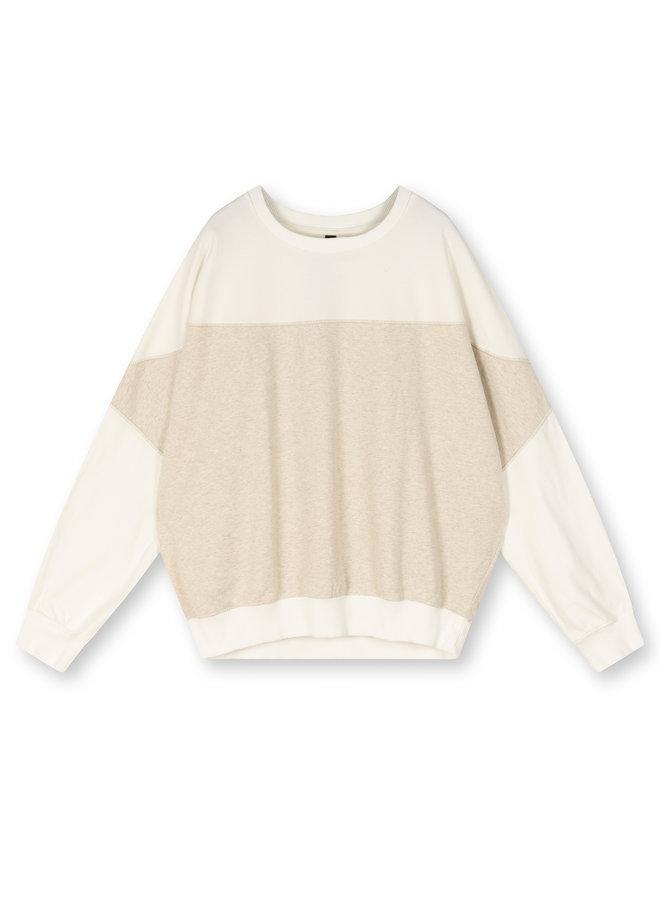 Trui Baseball sweater soft white melee