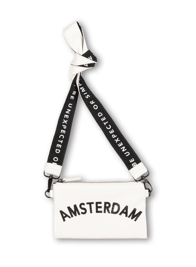 Tas Mini pouch amsterdam white
