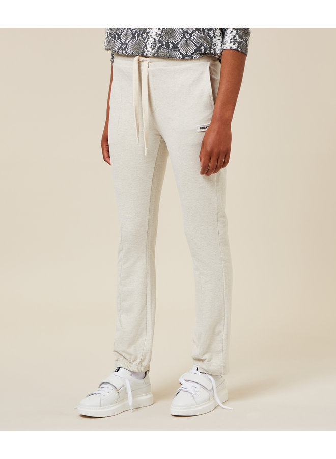 Broek Straight jogger soft white melee