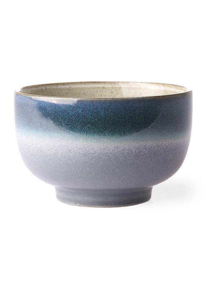 Kom ceramic 70's noodle bowl ocean