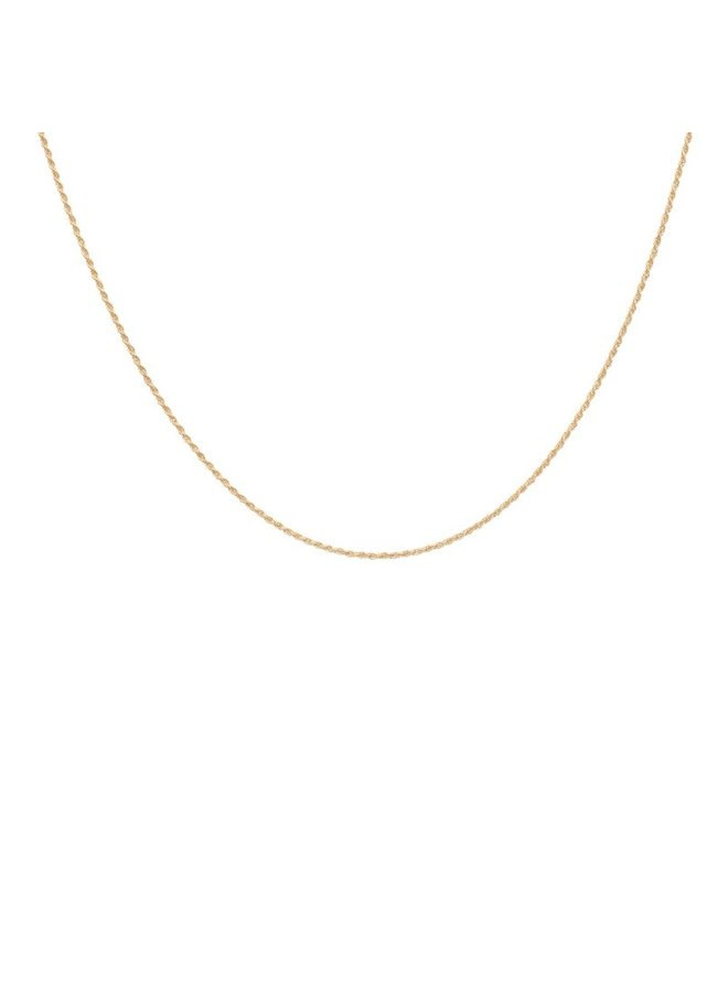 Ketting Twisted plain necklace short goldplated goud