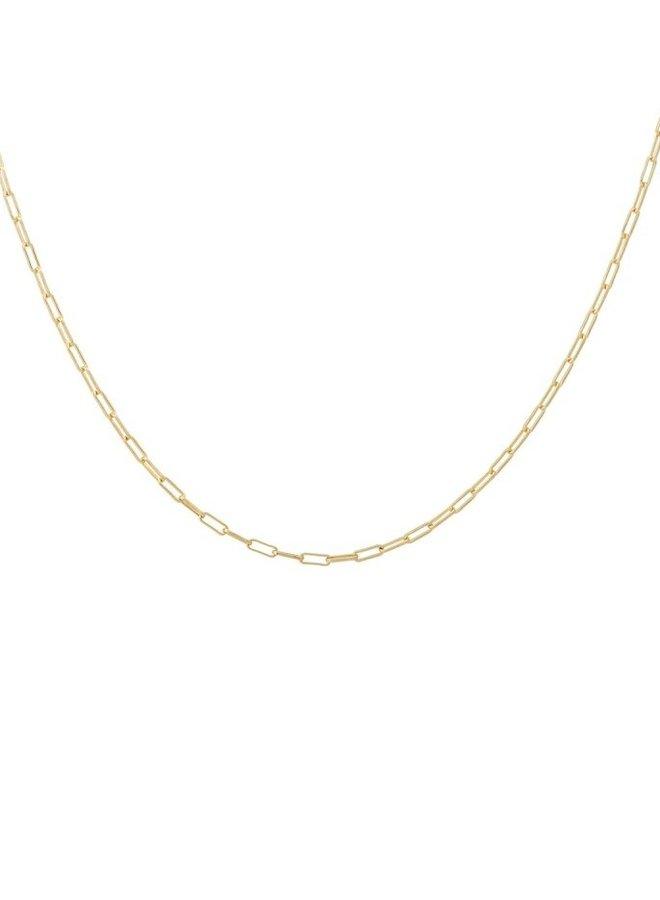 Ketting Lifeline plain short necklace goldplated goud