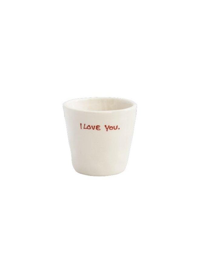 Mok Espresso cup I love you