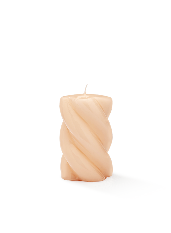 Kaars Blunt twisted candle short nude