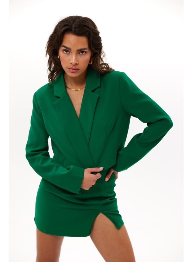 Blazer cropped Hug me now green