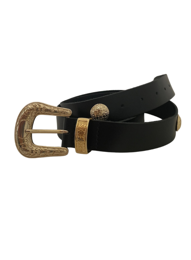 Riem Coin plain belt black, gold