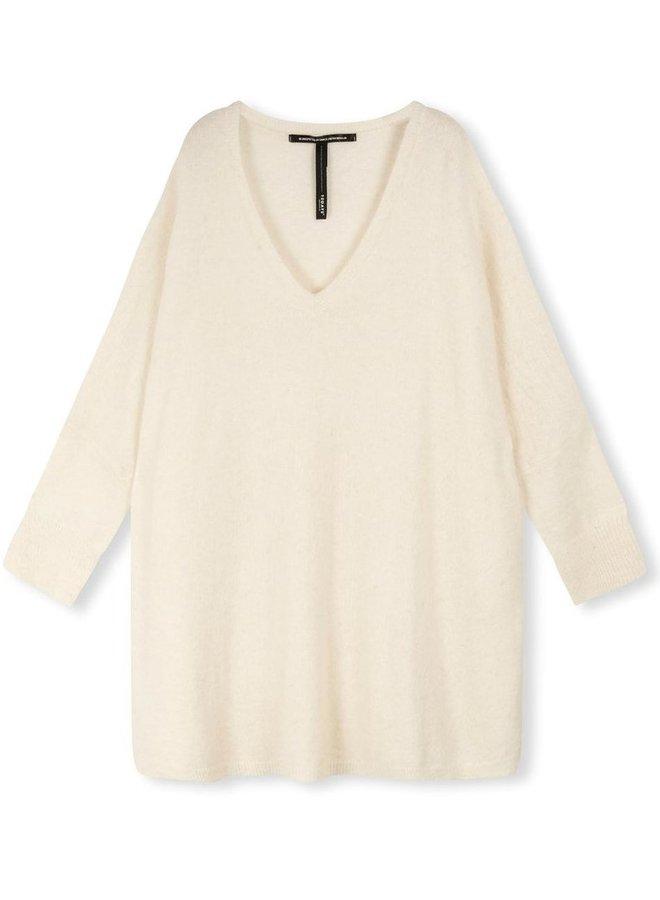 Trui Loose v-neck sweater ecru