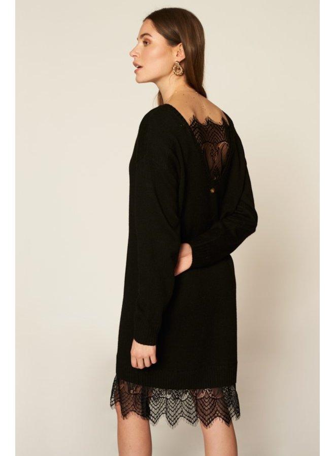 Jurk Ilsa sweat dress black