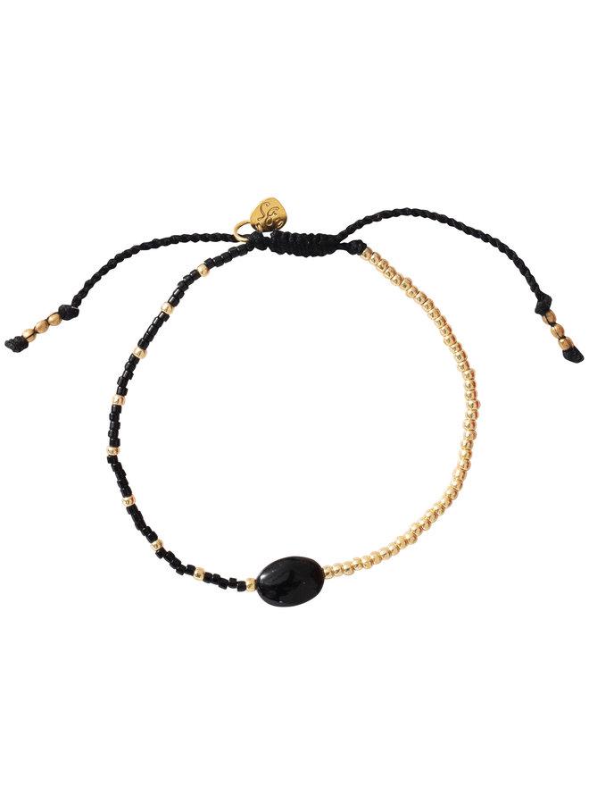 Armband Ruby black onyx gold
