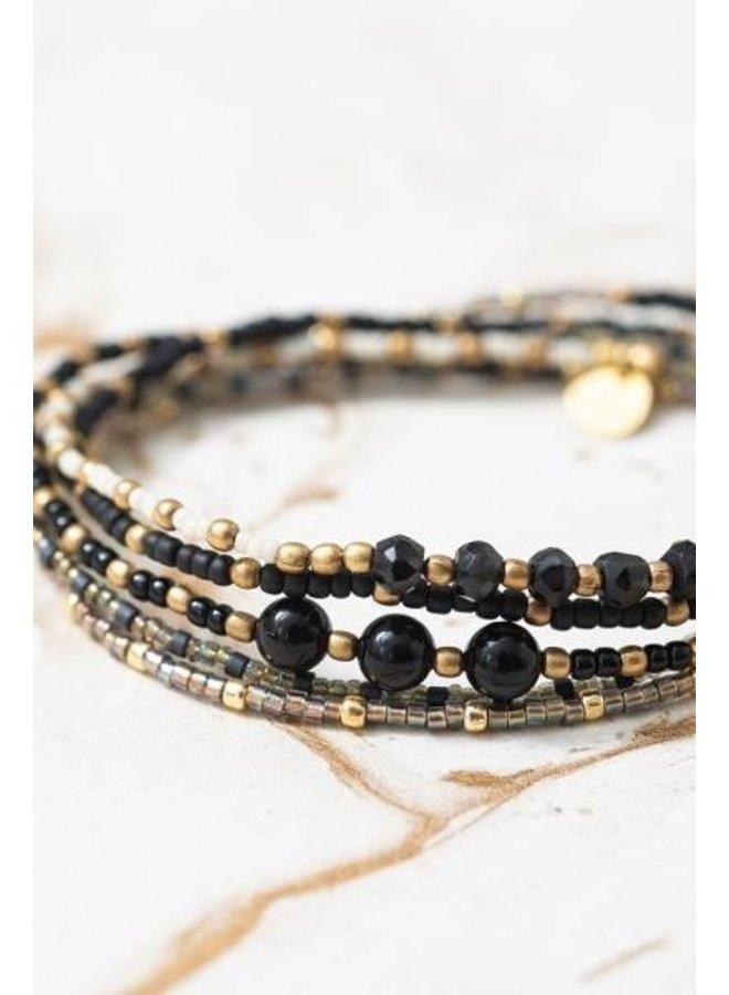 Armband Together black onyx gold
