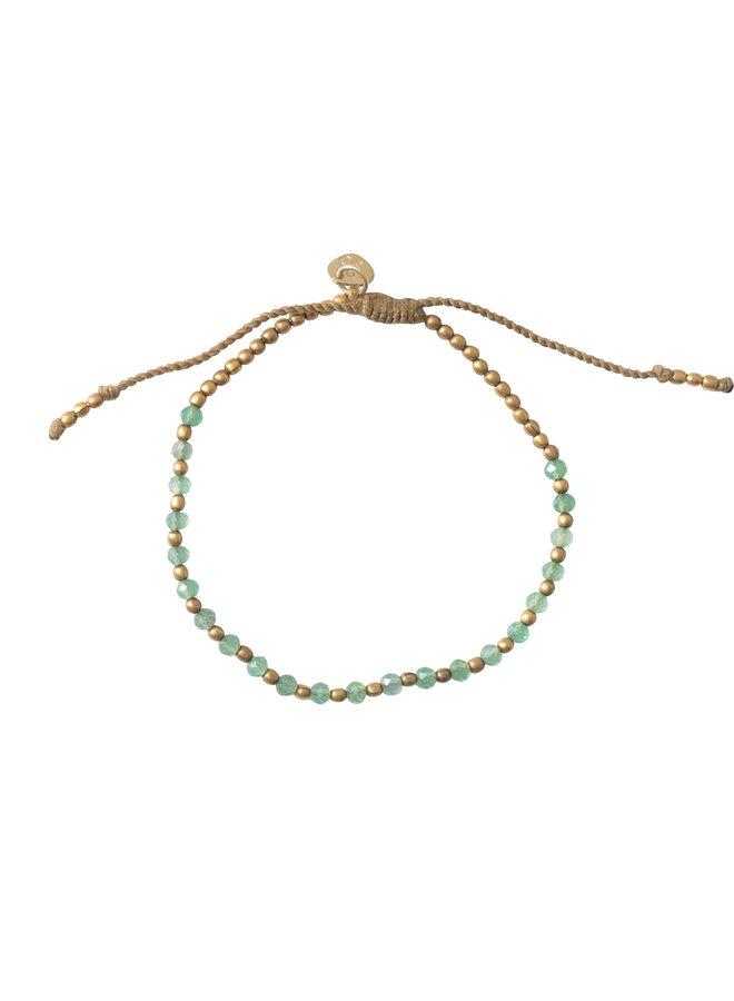 Armband Beautiful aventurine gold bracelet