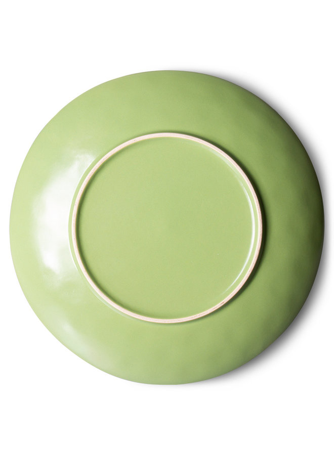 Bord ceramic dinner plate 70's kiwi (set of 2)