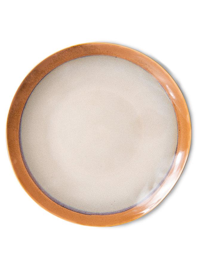 Bord ceramic dinner plate 70's earth (set of 2)
